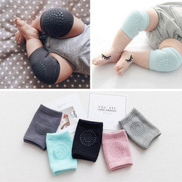 Infant knee pad online shopping - Baby Toddler Crawling Knee Pads Soft Anti Slip Kneecap Coverage Elastic Infant Leg Guard Pure Color nr Ww