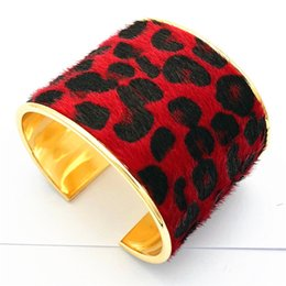 $enCountryForm.capitalKeyWord NZ - 2018 Newest Cuff Leopard print Bracelets Wide mouth fashion South American style bracelet bangle for women Jewelry 4 style factory wholesale