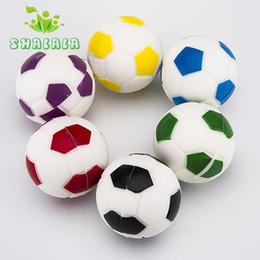 $enCountryForm.capitalKeyWord Australia - Mini Silicone Football Container Ball Dia 37mm Tobbaco Silicon Jar Wax Box For Dab Oil Herb Tool Use Wholesle 526