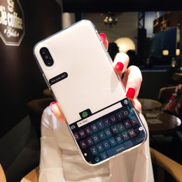 wholesale iphone keyboards UK - Wholesale Luxury Bule Ray Light keyboard Mirror Cases For iPhone X 6 6S Plus Case Silicone Soft TPU Phone Cover For iPhone 7 8 Plus