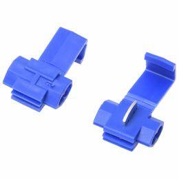 quick lock connector 2019 - Promotion! 100x Blue Scotch Lock Wire Connectors Quick Splice Terminals Crimp Electrical