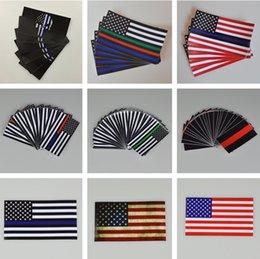 Mais novo Fina Linha Azul Decalque Bandeira-6.5 * 11.5 CM Etiqueta Da Bandeira americana para Carros e Caminhões-Wall Adesivos de Parede Adesivos Decorativos I240