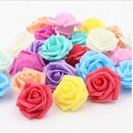 Foam Rose Heads White Australia - Wholesale 100pcs 7cm Handmade Artificial Foam Rose Flower Heads For Wedding Decoration Kissing Ball Free Shipping