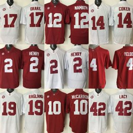 ca80c2988 Youth Alabama Crimson Tide Jerseys 2 Jalen Hurts 9 Cooper 3 Ridley 12  Namath 17 Drake Red White NCAA Kids Jerseys