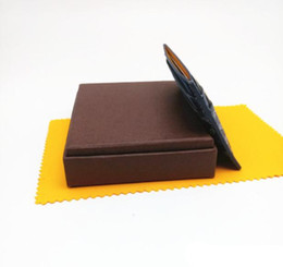 Wholesale GO men short malesharbes cad holder leather wallet card more letter credit card bus card package with the box