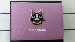 $enCountryForm.capitalKeyWord Australia - European And American Style Vogue DOG Cartoon Animal Genuine Leather Short Wallets Hasp With Zipper Purse