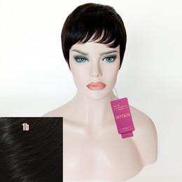 $enCountryForm.capitalKeyWord Australia - HOTKIS Short Fashion Wigs Brazilian Hair Short Cut Wig Human Hair Short Wig for Women can be washed and curled