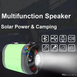 Used Speakers NZ - Solar Speaker Light Super Multifunction Which with 2 LED lights Solar Panel Adapter Used for Outdoor Camping Charger Mobile phone