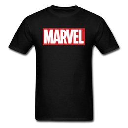 Logo Shirts For Men Canada - Fashion Brand Leisure Tops T Shirt White Black Classic Marvel Logo Design Tee Shirts For Men Funny High Quality Clothing Shirt Summer Tees