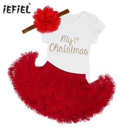 2018 newborn baby infant girls toddler my first christmas outfits romper jumpsuit with tutu skirt dress birthday party costumes y18100905