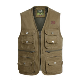 Chinese  Large Size XL-4XL Tactical Masculine Waistcoat Male Multi Pocket Unloading Sleeveless Vest Photographer Reporter Summer Jacket manufacturers
