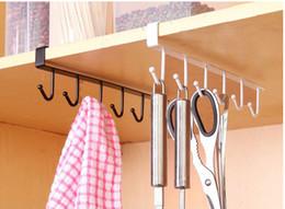 Großhandel Schrank hängende Haken Küche Speicheraufhänger Brust Speicher Organizer Halter Küche Schlafzimmer Badezimmer Kleinigkeiten Haken Typ Rack
