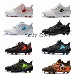 Soccer SerieS online shopping - 2018 High Quality X FG leather Soccer Shoes Thunderstorms Series for Men Crampons de Football Outdoor botas de futbol Cleats Boots