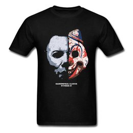 Painting Faces UK - Design Your Own Shirt Men'S Faces Of Myers Scary Painting Crew Neck Graphic Short Sleeve T Shirts