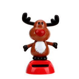 $enCountryForm.capitalKeyWord UK - Christmas Style Car Styling Dashboard Decoration Elk Car Ornament Solar Powered Dancing Toy With Self-adhesive