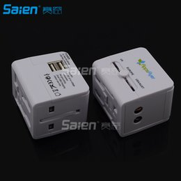 Iphone International NZ - All-In-One International Travel Plug Adapter with Dual USB Ports (UP-9KU) - Great for iPhone Smartphones Laptops & more