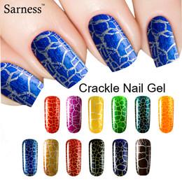 PurPle gel nail Polish online shopping - sarness UV LED Cracking Nail Varnish Need Top and Base nail art Crack Pattern Soak Off Crackle lucky Nail Gel Lacquer