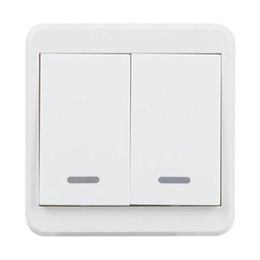 China UK Plug WiFi Smart Switch 2 Gang Light Wall Press Switch APP Control Panel Work with Amazon Alexa Google Home Timing Schedules supplier plug wall lights uk suppliers