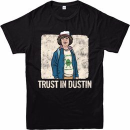 $enCountryForm.capitalKeyWord NZ - Stranger Things T-Shirt Trust In Dustin Spoof T-Shirt Inspired Design Top Hot 2018 Fashion Sleeve Tops Tshirt Homme