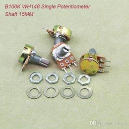 Official Website Wh148 250k 254 Three Feet 15mm Handle Long Horizontal B250k Single Potentiometer Handle Length 15mm with Screws