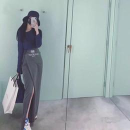 5325a8754a 1010 2018 Marca Mismo Estilo Faldas Vestido de mujer Otoño Moda Prom Lujo  Asimétrico Envío Gratis TB