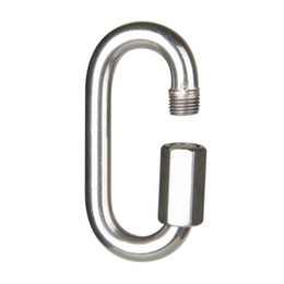 China Solid Fine Stainless Steel Oval Screw Gate Rock Lock Climbing Gear Carabiner Safety Bearing for Hiking Camping supplier safety gates suppliers