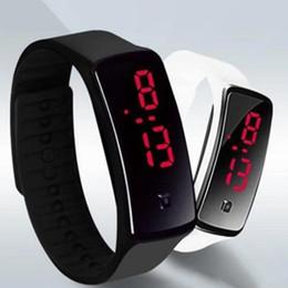 $enCountryForm.capitalKeyWord NZ - New Fashion Sport LED Watches Candy Jelly men women Silicone Rubber Touch Screen Digital Watches Bracelet Wrist watch