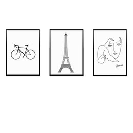 Painting Faces Australia - Home Decor Print Painting Modular Vintage Art HD Nordic Style Bike Tower Face Canvas Wall Tableau Picture For Living Room Poster