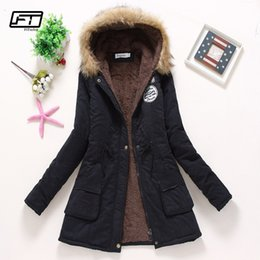 $enCountryForm.capitalKeyWord NZ - Fitaylor New Winter Padded Coats Women Cotton Wadded Jacket Medium Long Parkas Thick Warm Hooded Quilt Snow Outwear Abrigos S18101505