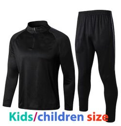 Fast Shipment To UKworld Cup 2018 Children Birthday Gift Survetement England Football Training Black Kids Soccer Kits