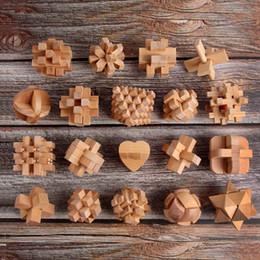 $enCountryForm.capitalKeyWord NZ - New Design IQ Brain Teaser Kong Ming Lock 3D Wooden Interlocking Burr Puzzles Game Toy Intellectual Educational For Adults Kids