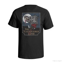 $enCountryForm.capitalKeyWord UK - Jinbaolong The Slaughtered Lamb Mens Movie Inspired T Shirt Tees Premium T-Shirt Mens 2018 New Tee Shirts Printing Top Tee