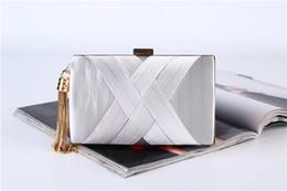 Wholesale Evening bag New hand-made tassel pendant The clutch Large capacity dress bag Silk handclutch bag best price best quality handbags handbag
