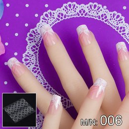 Patterned acrylic nail tiPs online shopping - JQ in Box With Nail Glue Tape Stars Pattern Press On False Nail Art Tips Full Cover Fake Tip Sizes JQ006
