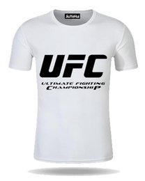 Chinese  MMA Men's T-shirts UFC Theme Fashion Clothes Fighting Club Pattern Short Sleeve Men's T Shirt Men T Shirts Cotton Print Tops Tees manufacturers