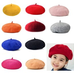 c0d179ffec9fb Discount woolen caps for girls - Autumn Winter Solid Color Vintage Berets  Cap Round Soft Woolen