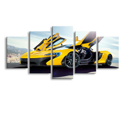 $enCountryForm.capitalKeyWord Australia - 5 pieces high-definition print sports car canvas oil painting poster and wall art living room picture C5-22