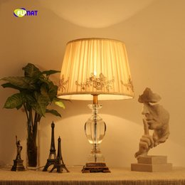 princess room lamps 2019 - Fashion french rustic wedding gift princess court royal fabric lamp shade resin decoration table lamps for bed room chea