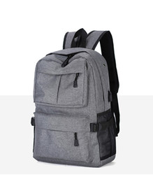 wholesale computer backpacks NZ - 2018 4 Colors 22inch External USB Charge Laptop Backpack Anti-theft Notebook Computer Bag Leisure Travel Backpack 30pcs
