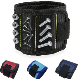 Wholesale 1680D Magnetic Wristband Wrist Magnet Strap For Screws Drill Bits Small Metal Tools For Craft HH7-430