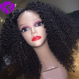 $enCountryForm.capitalKeyWord NZ - Hotselling Short Afro Kinky Curly Synthetic Wigs For Black Women 180density lace front Natural Hair Wigs with baby hair blenched knots