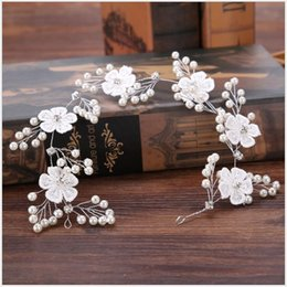 Hair For Weddings Hairstyles NZ - 2018 Fashion Flower Headband Hairstyles Bridal Headpieces for Women Pearl Wedding Hair Accessories Fascia Capelli Accessoire Cheveux New