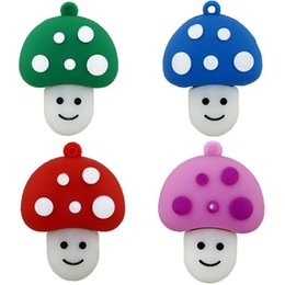 Fine 2GB 4GB -64GB Cartoon Mushroom USB Disk Carino Big Promotion Prezzo di fabbrica USB Flash Drive Memory USB Stick U Disco Pen Drive Quattro colori