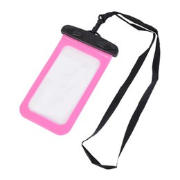 plain white screen UK - 7 Colors Waterproof Multi-style Valve Type Mini Swimming7 Colors Waterproof M Bag For Smartphone Touch Screen Bag Phone Care Phone Container