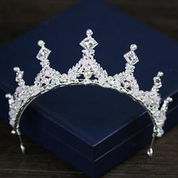 $enCountryForm.capitalKeyWord NZ - Bridal crown 2018 new high-end square Rhinestone crown factory direct sale bridal crown hoop wedding accessories accessories
