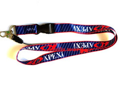 Cars Industries UK - New 10pcs Popular narrow Lanyard 50 2cm Car brand APEXI Industries Removable Key Chains Badge Pendant Party Gift moble phone lanyard