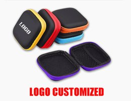 $enCountryForm.capitalKeyWord NZ - LOGO Custom Earbud Cases Pocket Earbud Travel Carrying Case for Smartphone USB cable Headset Storage Bags Hard EVA USB flash dish Box