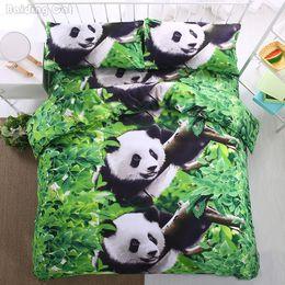 $enCountryForm.capitalKeyWord NZ - Green Panda 3d Printed Bedding Sets 4pcs Duvet Cover Set Twin Queen King Size Bed Linens Nice Bedclothes Romantic Home Textile