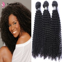 Curly Human Hair For Weaves NZ - Afro Kinky Curly Human Hair Weave Bundles 100g pcs Indian Virgin Remy Hair Weaving Extensions Double Weft for African American Women