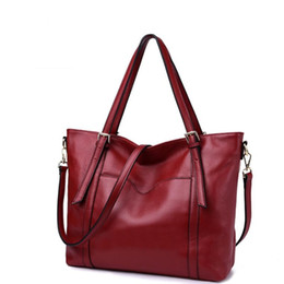 high luxury bags 2019 - 100% Genuine leather Handbags 2018 luxury handbags women bags designer big Shoulder Bags High quality Female tote bolsa